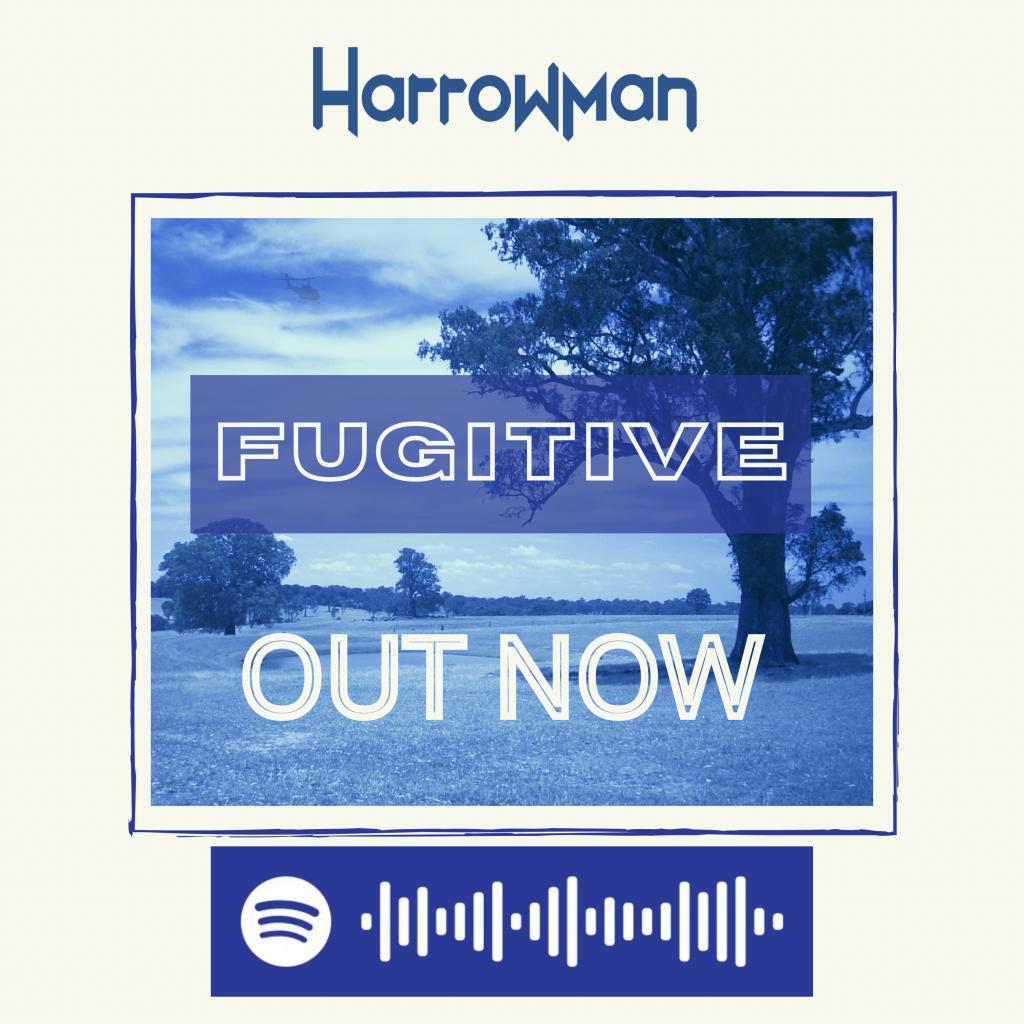 harrowman fugitive EP ad panel